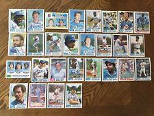 1982 KANSAS CITY ROYALS Topps COMPLETE Baseball Team Set 28 Cards BRETT WILSON!