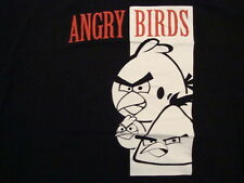 Angry Birds The God Father Spoof Black T Shirt Size 5XL