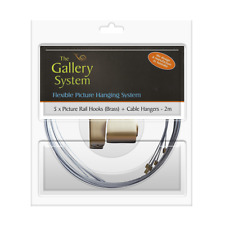 Brass Picture Rail Hangers - GBLPRANG5B - The Gallery System