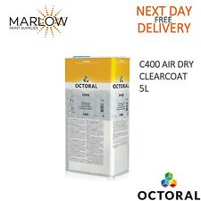 OCTORAL C400 AIR DRY CLEARCOAT LACQUER 5LTR   -  FREE NEXT DAY DELIVERY