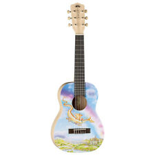 Luna 6 String Nylon Aurora V2 Series 1/2 Size Acoustic Guitar - Dragon Graphic
