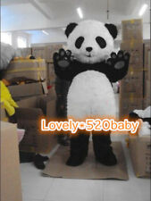 Panda Bear Mascot Costume Party Fancy Dress Fluffy EPE Head Outfit Cosplay Adult