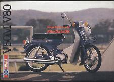 Yamaha V50M V80 DeLuxe (1983-1986) Sales Brochure V 50 M V 80 CDi Moped NOS >>>>