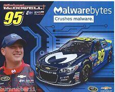 "2016 MICHAEL MCDOWELL ""MALWAREBYTES"" #95 NASCAR SPRINT CUP POSTCARD"