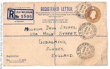 BD181 1947 gb scotland * old Meldrum * aberdeen inscrit e {samwells couvre -} pts