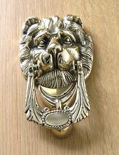 Door Knocker Italian Cast Brass Lion's Head Design in Polished Finish