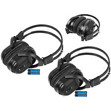 2 New Foldable Wireless DVD Headphones Headset Batteries + Cord For Toyota Lexus