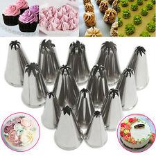 14pcs Russian Stainless Steel Icing Piping Nozzles Pastry Cake Tips Decor Tool