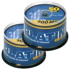 Bestmedia Platinum CD-R700 CD-Rohling 700MB 52x 80min, 100er in 2x 50er Spindeln