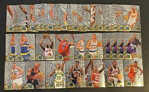 1995-96 Fleer Metal Silver Spotlight Basketball Card Lot of 78