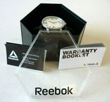 REEBOK Stride(£95.50RRP)Men's Watch Black Silicone Strap RD-STE-G2-S1IR-BR- BNWT