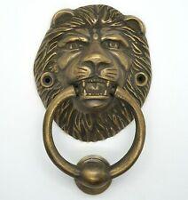 DOOR KNOCKER LION'S HEAD LARGE SOLID BRASS HEAVY DUTY 160mm