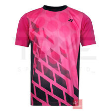 Yonex 16369 Men's Crew Neck T-Shirt - Black/Pink