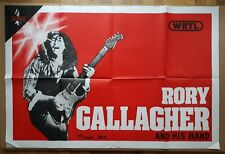 Rory Gallagher and his band - french poster tour 1982 - original vintage rare