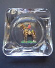 OLD GLASS ASHTRAY, ROYAL CANADIAN MOUNTED POLICE (RCMP) ARTWORK