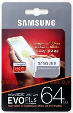 SAMSUNG EVO PLUS 64 GB micro SDXC 100MBs Class 10 TFMobile Memory Card 64G U3