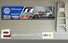 VW Polo R WRC Garage Banner for Workshop, Garage, Volkswagen Motorsport,Red Bull