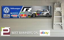 VW Polo R CMR GARAGE Banner per officina, garage, Volkswagen Motorsport, Red Bull