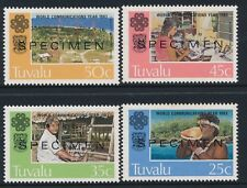 1983 TUVALU WORLD COMMUNICATIONS YEAR SET OF 4 FINE MINT MNH SPECIMEN OVERPRINT