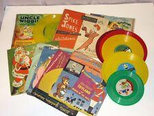 "20 Vtg Children's 6"" 7"" Yellow Red 45 rpm Records Golden Peter Pan RCA Voco"