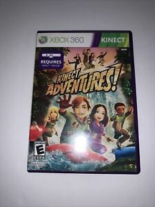 Kinect Adventures Microsoft Xbox 360 2010 Video Game Complete NTSC Kinect Reqd