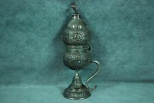 Huge Antique Judaica Silver Spice Container Besamin Tower