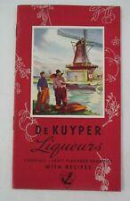 De Kuyper Liqueurs Advertising Booklet with Recipes, Circa 1940
