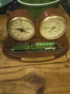 Flying Scotsman Clock And Barometer