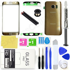 Samsung Galaxy S7 Edge G935 -Gold- Front Screen Lens Back Glass Replacement Kit