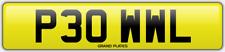 POWELL POWEL NUMBER PLATE P30 WWL CHERISHED REG PAUL PAWL OWL POWELL'S CAR REG