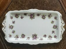 Royal Albert Bone China Sweet Violets Sandwich Tray Beautiful!