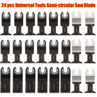 24pcs Oscillating Multi Tool Saw Blades Set for Fein Multimaster Makita Bosch