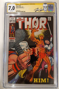 Thor 165  CGC 7.0 SS Stan Lee   1st Adam Warlock      Hot - Key - MCU
