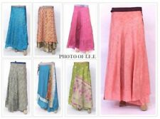 Wholesale Indian Vintage Silk 20 PC Lot Sari Wrap Skirt Women Printed Reversible
