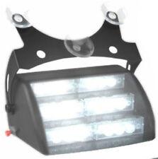 White Emergency Hazard Warning Windshield Dashboard Flash Strobe Light 18 LEDs