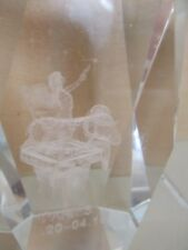 3D Laser paperweight Aries Glass Art Zodiac Ram Stars Fairy Pixie Heavy Desktop