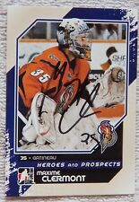New Jersey Devils Maxime Clermont Signed 10/11 ITG H&P Gatineau Olympiques Card