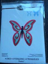 Sizzix 4 Thinlits Dies Mariposa Bolsa De Almacenamiento Nuevo Libre P&P
