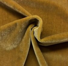 "KRAVET TEDDY MOHAIR CURRY GOLDEN WOOL VELVET FURNITURE DRAPERY FABRIC BTY 55""W"