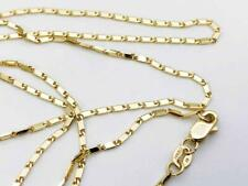 """14K Solid Yellow Gold LUMINA Bar Link Necklace Chain 20"""" 1mm"""