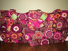 Vera Bradley CARNABY Retired Large PLEATED TOTE Zippered Shoulder Bag - NWT