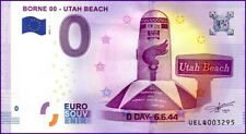 UE LQ-1 / BORNE 00 - UTAH BEACH / BILLET SOUVENIR 0 € / 0 € BANKNOTE 2017-1