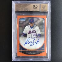 Dominic Smith 2013 Bowman Chrome Auto RC ORANGE REFRACTOR #'d/25 BGS 9.5/10