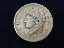 1837 Us Coronet Head Large Cent