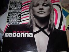 """MADONNA die another day ( pop ) - 2x12"""" - sticker - WHITE LABEL PROMO -"""