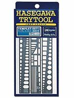 Hasegawa TP1 Tri-tool template set straight line plastic model tool 06684 JAPAN