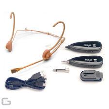 Stagg SUW 10h-be Beige Inalámbrico Auriculares Micrófono Gimnasio aeróbico zumba
