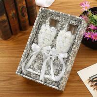 1 Set Personalized Wedding Glasses, Rustic Wedding Champagne Toasting Flutes