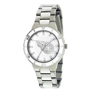 Ladies NFL Tennessee Titans Silver Mother Of Pearl Watch Style# XWL773 $79.90