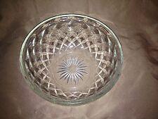 "Large Heavy Glass Bowl - Diamond Pattern with Starburst Center - 8"" across - VGC"